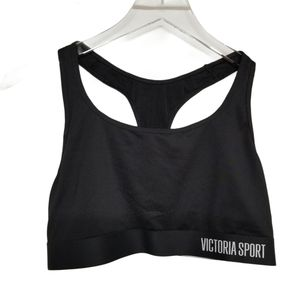 Victoria's Secret Black Sport Fitness Bra Top L